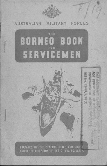 The Borneo Book for Servicemen - Australian Army