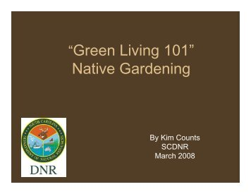 Native Gardening - SC Department of Natural Resources