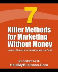 7 Killer Methods for Marketing Without Money - Mike Tech Show