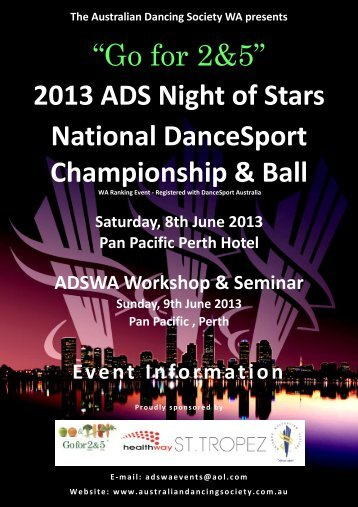 """Go for 2&5"" 2013 ADS Night of Stars National DanceSport ..."