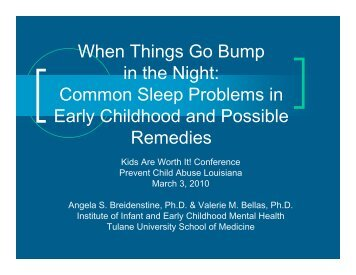 When Things Go Bump in the Night - LA Parenting Education Network