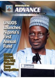Advance Magazine May-June 2012 - University of Jos