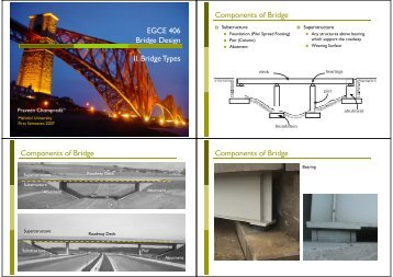 EGCE 406 Bridge Design - Mahidol University