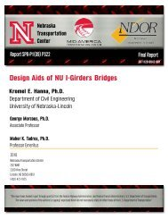 Design Aids of NU I-Girders Bridges