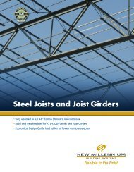 Steel Joists and joist Girders - New Millennium Building Systems