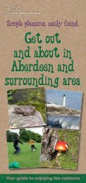 Get out and about in Aberdeen and surrounding area