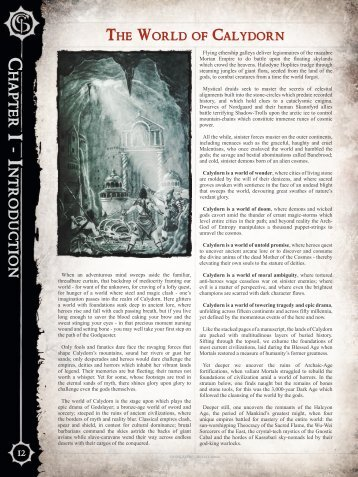 Godslayer - Rise of Legends Background Book Preview