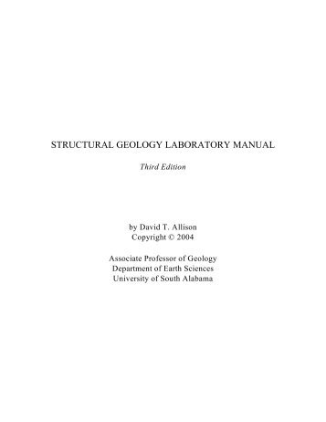 Stereonet magazines structural geology laboratory manual university of south alabama sciox Image collections