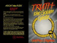 Truth The Golden Girdle - New Creation Teaching Ministry