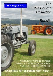 The Peter Bourne Collection Results - HJ Pugh & Co Auctioneers