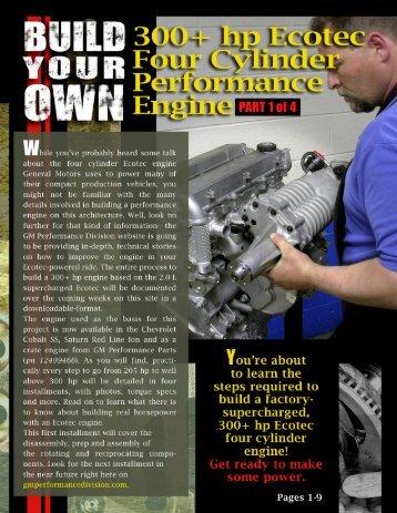 300+ HP Ecotec Four Cylinder Performance Engine - GM ...