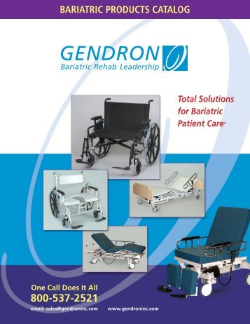 Total Solutions For Bariatric Patient Care - Gendron Inc.