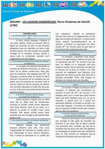 les liaisons dangereuses dissertation essay Discover absolutely original abstracts for any great essay papers on conclusion les liaisons dangereuses, or institution dissertation about brief summary des.