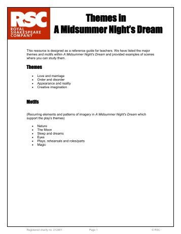 Themes in A Midsummer Night's Dream