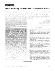 Mayer-Rokitansky Syndrome and Anorectal Malformation - medIND