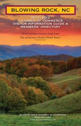 Member Directory - Blowing Rock Chamber of Commerce