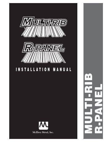Multi-Rib/R-Panel Installation Manual - McElroy Metal