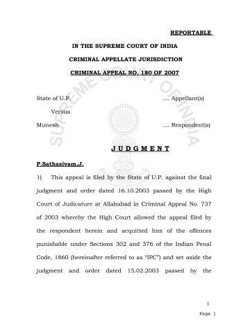 REPORTABLE - Supreme Court of India
