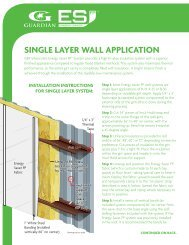 Energy Saver Wall Installation Instructions - Guardian Building ...