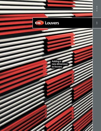 Adding a new dimension to louvers - Construction Specialties, Inc.