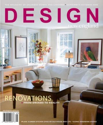 Design New England Magazine | September / October 2009