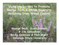 Using Herbicides to Promote Native Forb & Shrub ... - Nmvma.com