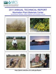 2011 Annual Technical Report - Plant Materials Program - US ...