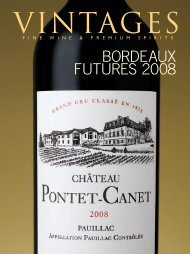 Bordeaux Futures 2008 First Offer – Products & Tasting - Vintages