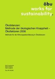 Ökobilanzen: Methode der ökologischen Knappheit ... - Öbu