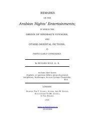 Remarks on the Arabian Nights' Entertainments - Wollamshram.ca