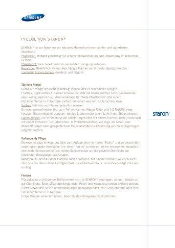 PFLEGE VON STARON˓ - Tschudin AG Basel