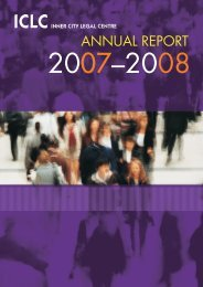 load the 2007 - 2008 Annual Report - Inner City Legal Centre