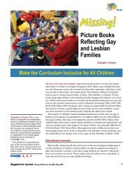 Missing! Picture Books Reflecting Gay and Lesbian Families