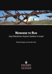 NOWHERE TO RUN: GAy PALESTINIAN ASyLUM-SEEKERS