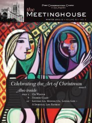 Celebrating the Art of Christmas - First Congregational Church