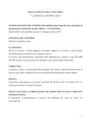 "regolamento del concorso ""la spagna a genova 2013"" - Spain"