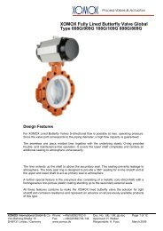 XOMOX Fully Lined Butterfly Valve Global Type 008G - Fcs-web.com