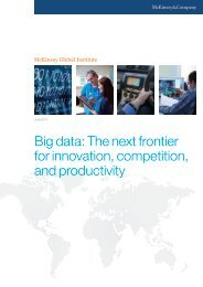 Big data: The next frontier for innovation, competition - McKinsey ...