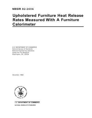 Upholstered Furniture Heat Release Rates Measured With A ...