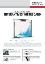 INTERAKTIVES WHITEBOARD - Hitachisolutions-eu.com