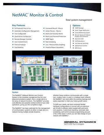Netmac monitor & control - General Dynamics SATCOM Technologies