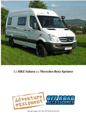 Le HRZ Sahara sur Mercedes-Benz Sprinter - Offroad Accessoires