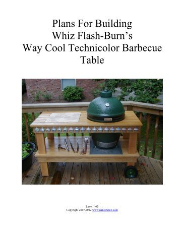 Plans For Building Whiz Flash-Burn's Way Cool ... - Naked Whiz