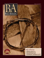 English - The Bible Advocate Online
