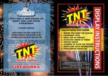 download leaflet - TNT Fireworks UK
