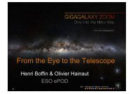 From the Eye to the Telescope - ESO