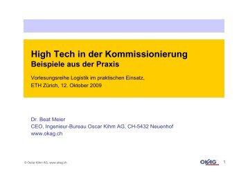 ETH Zürich - BWI - Vorlesungsreihe Logistik im ... - okag.ch