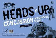 Heads Up: Concussion in High School Sports - Guide for Coaches