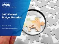 2013 Federal Budget Breakfast