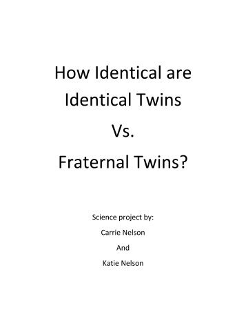 How Identical are Identical Twins Vs. Fraternal Twins? - Fat Cyclist